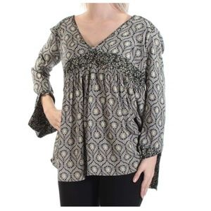 Free People Small Tunic Floral Geo Print New